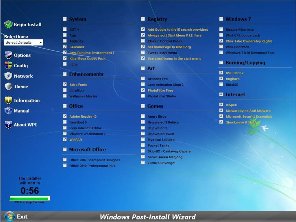 Create a custom Windows install disc with Windows Post-Install Wizard