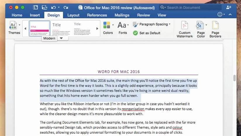 Review: Microsoft Office 2016 for Mac