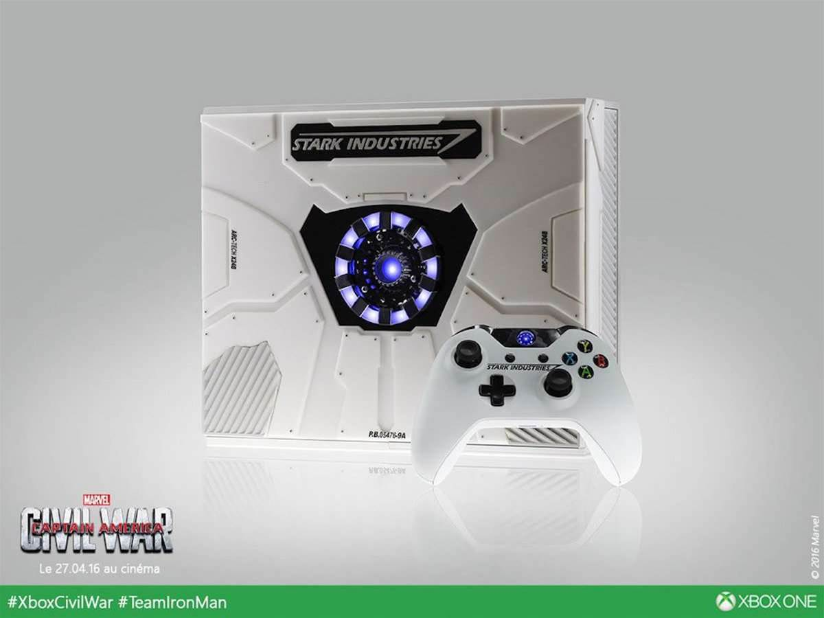 Tony Stark designed this official Iron Man-themed Xbox One - in between fighting a Civil War