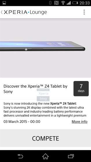 Sony gives us a glimpse of the new Xperia Z4 Tablet