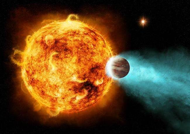 Star Pulling Massive Planet Apart with X-Rays
