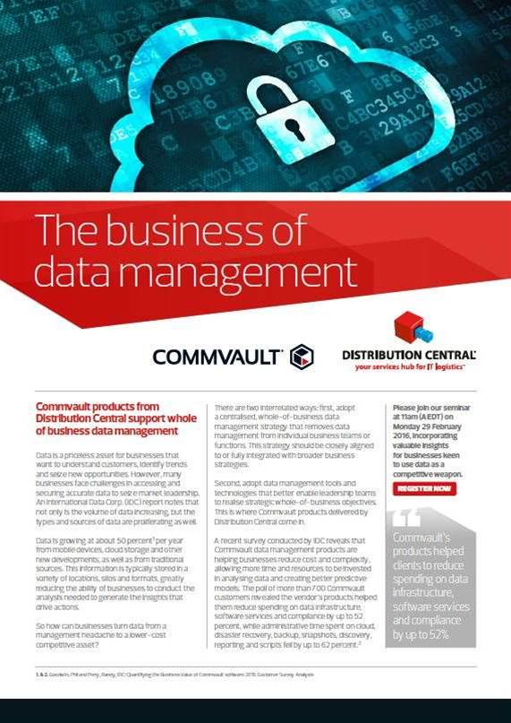 The business of data management