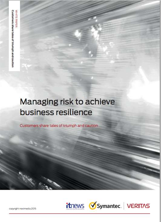 Managing risk to achieve business resilience