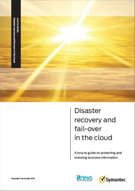 Disaster recovery in the cloud