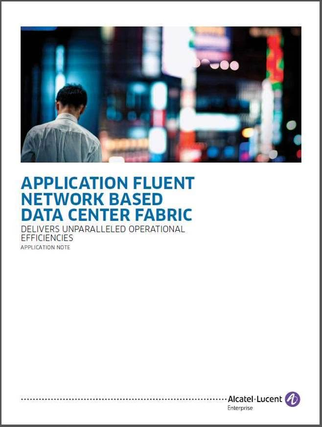 Application Fluent Network Based Data Center Fabric