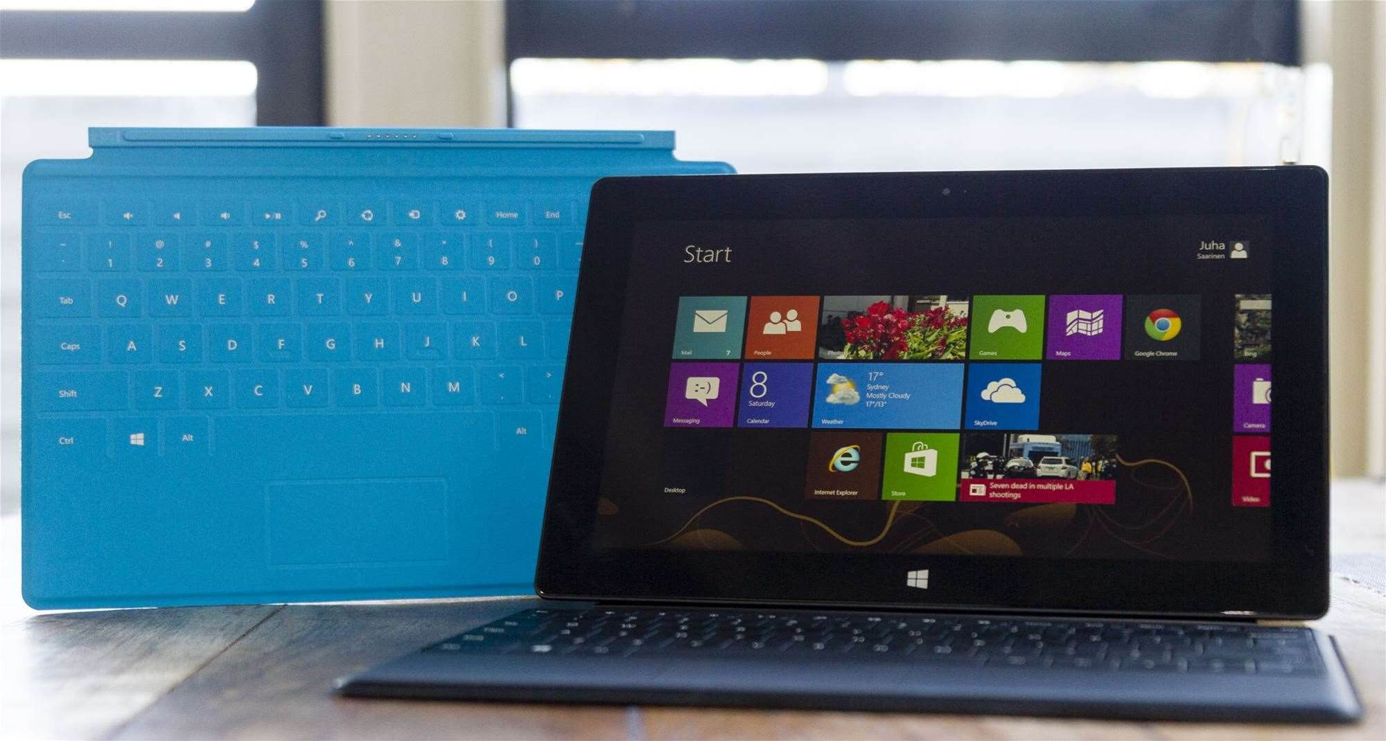 Microsoft Surface Pro with the Touch and Type covers. Photo credit: Juha Saarinen