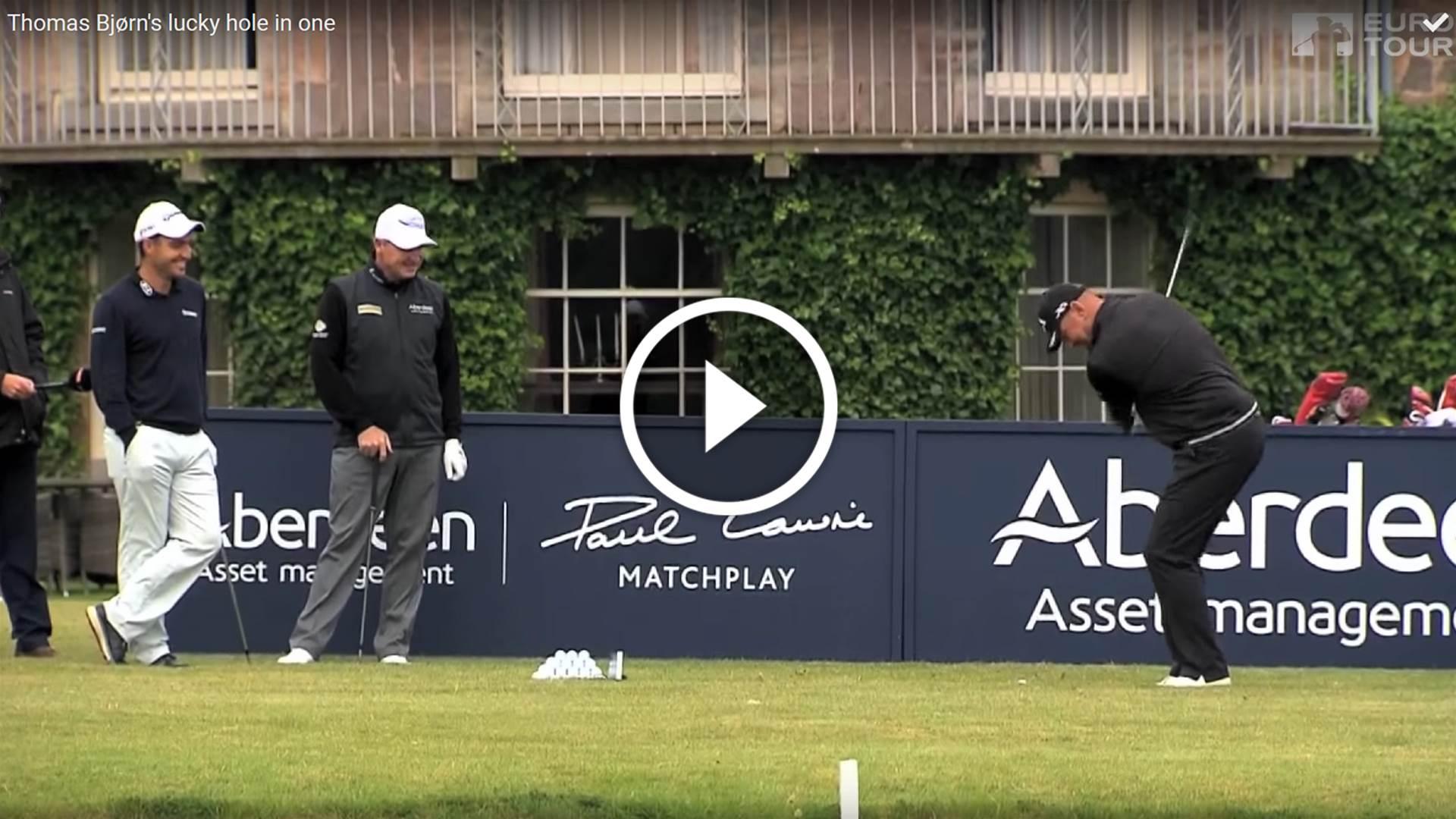 VIDEO: Bjorn Lucky!
