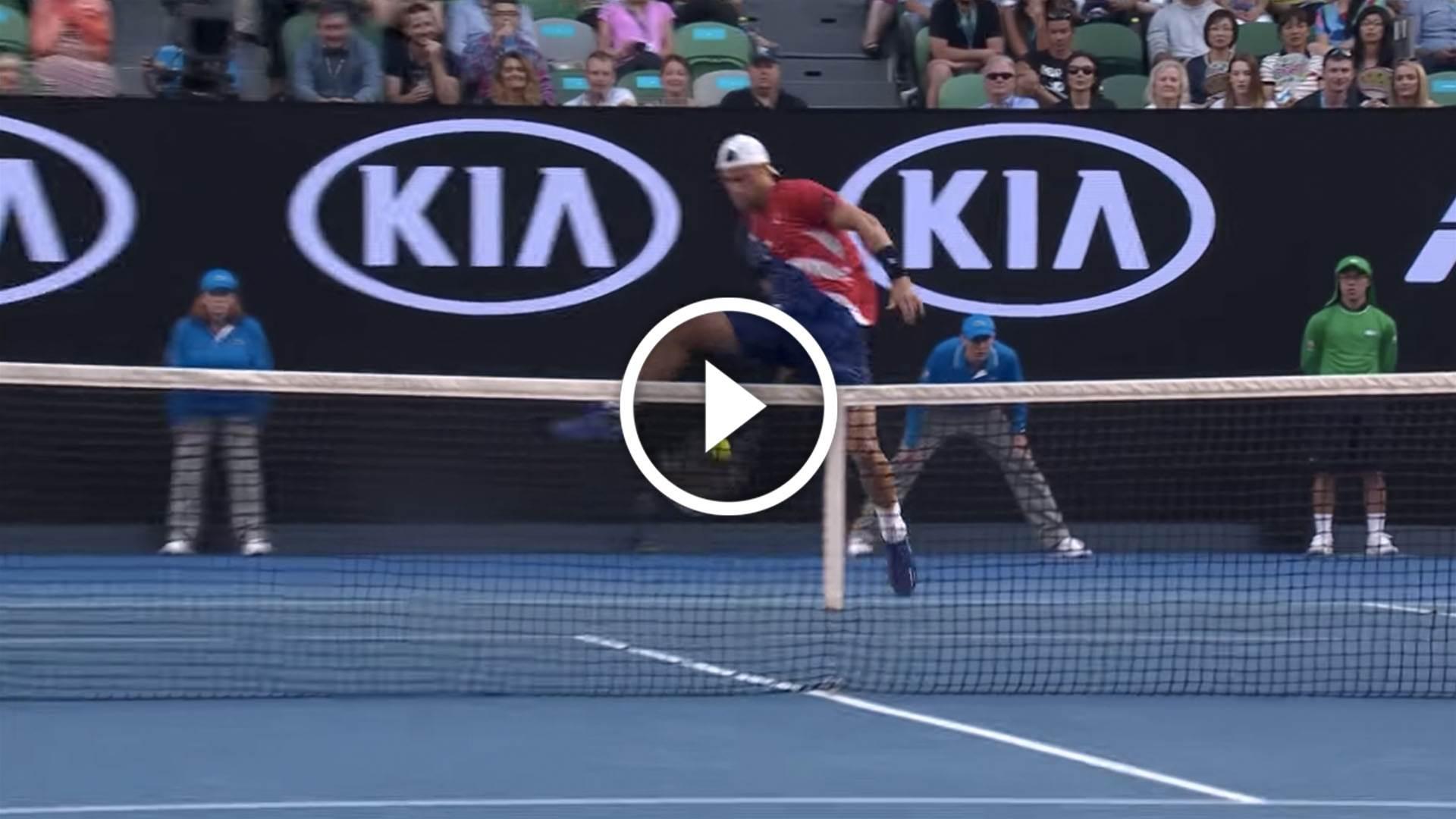 Neat! Best Aus Open trick shots...