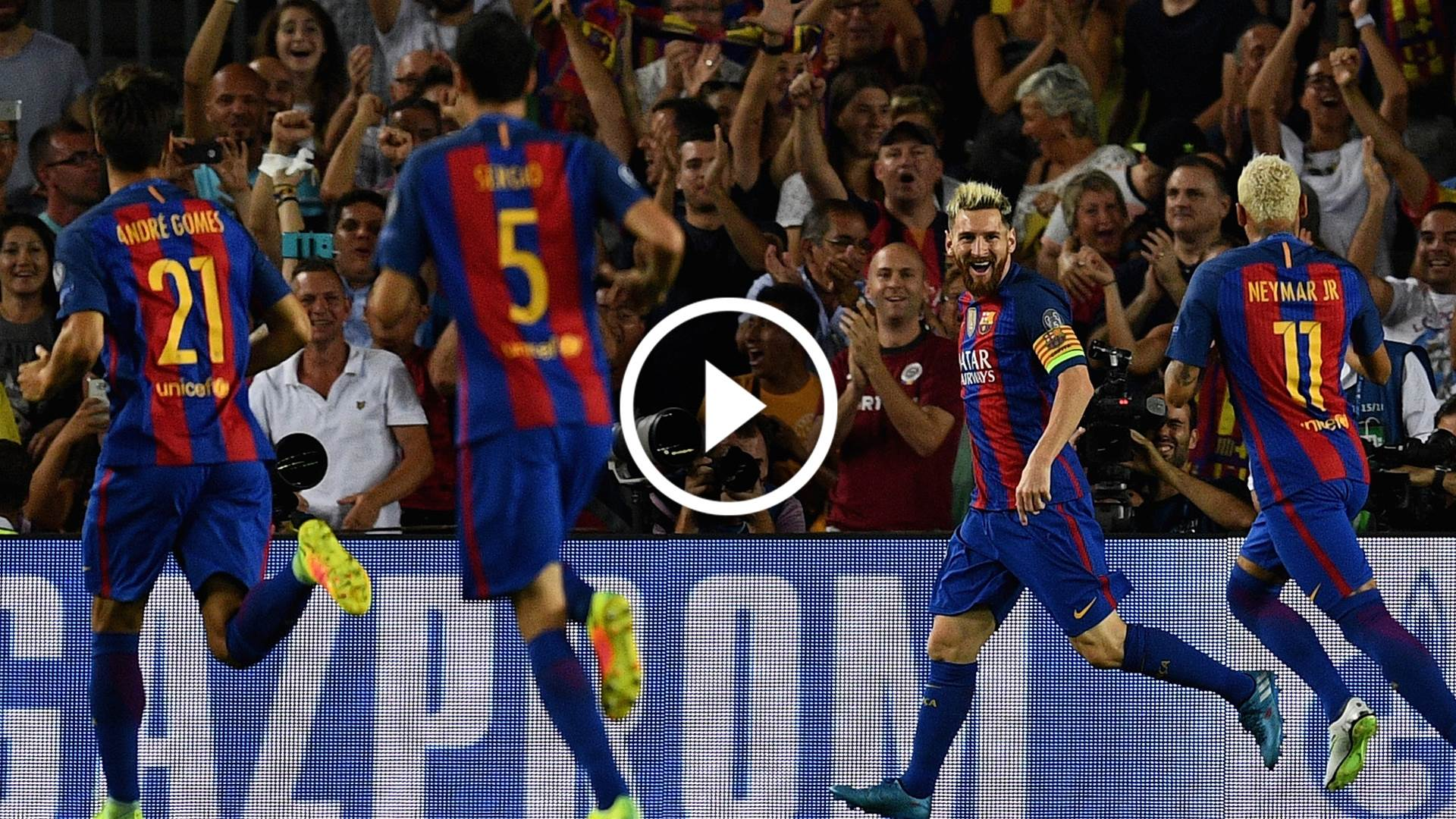 Messi runs rampant in 7-0 rout
