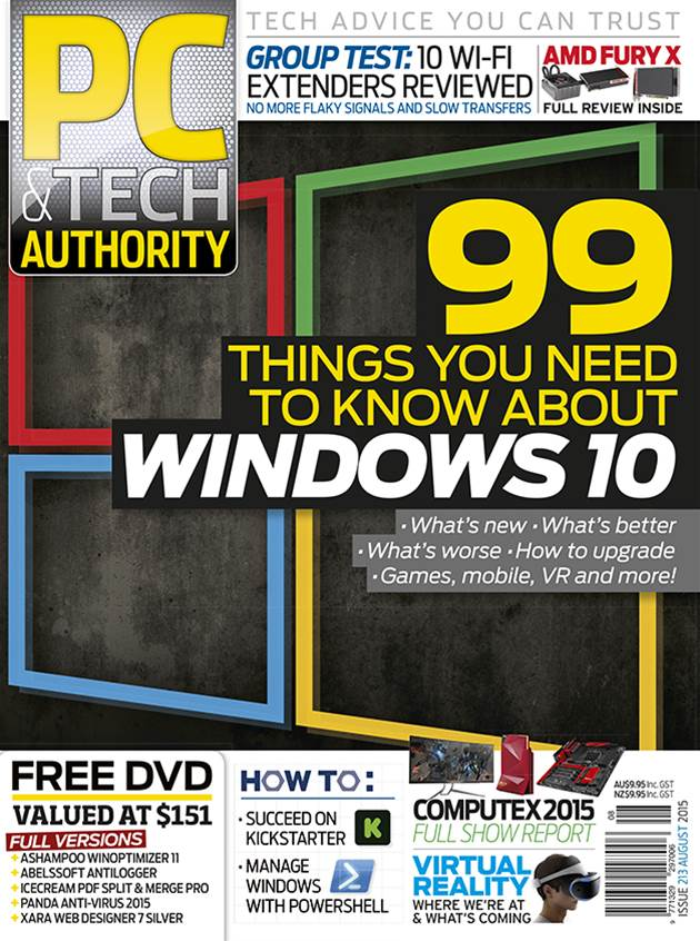 PC & Tech Authority Magazine Issue: August 2015