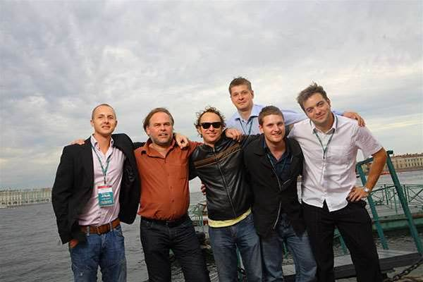 Australian media attendees, Eugene Kaspersky and Alexey Gromyko