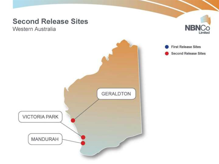 Maps: Second release of NBN Co sites