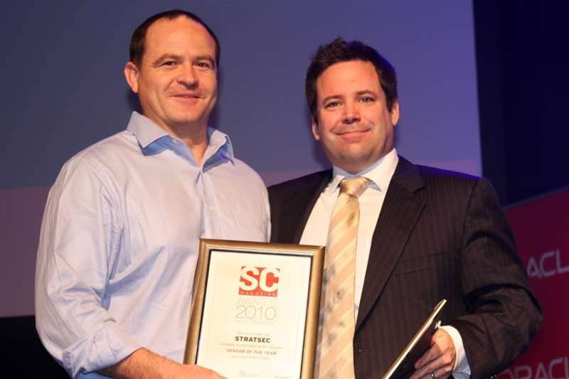 SC Magazine editor in chief presented Stratsec a highly commended award for SC Awards vendor of the year.