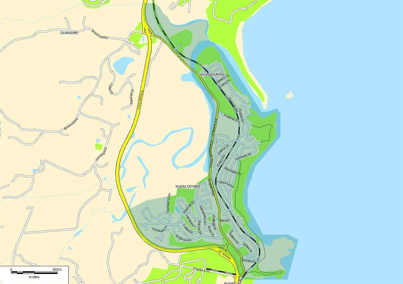 Kiama/Minnamurra (clieck to enlarge) - The recently developed Kiama Downs and Minnamurra, on NSW South Coast, will also be a testbed site.