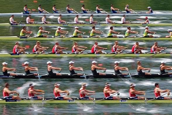 Few sights more majestic than a rowing eight in full flight