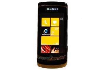 Microsoft shows off Samsung Windows Phone 7 Series handset
