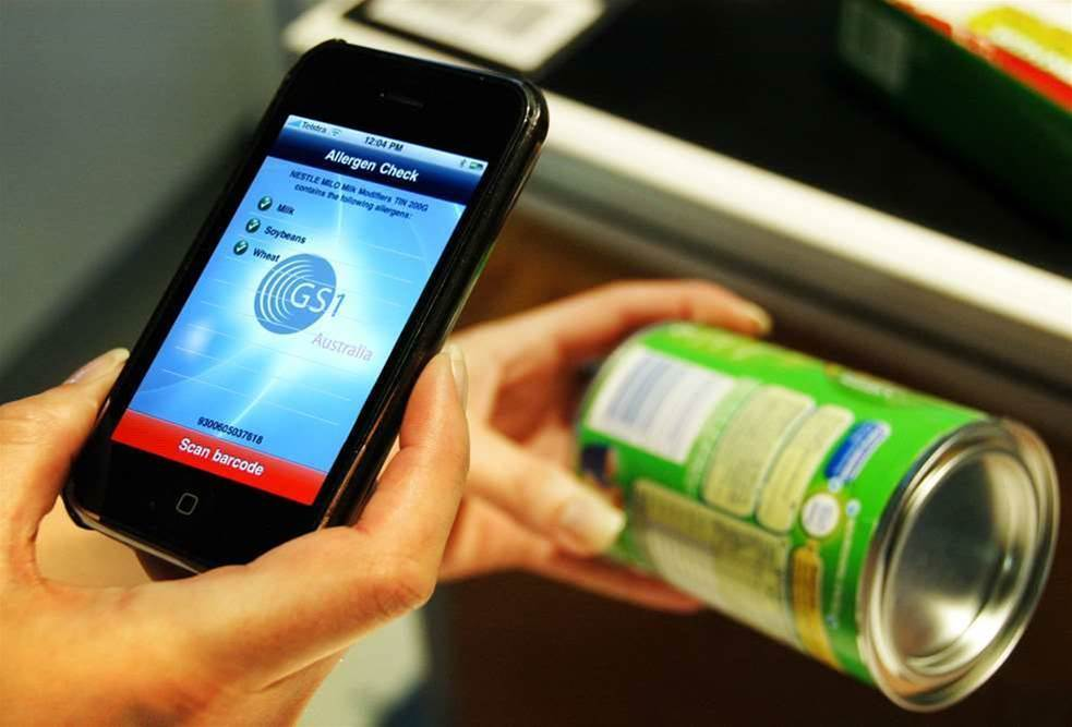 Smartphone app scans barcodes for food allergens