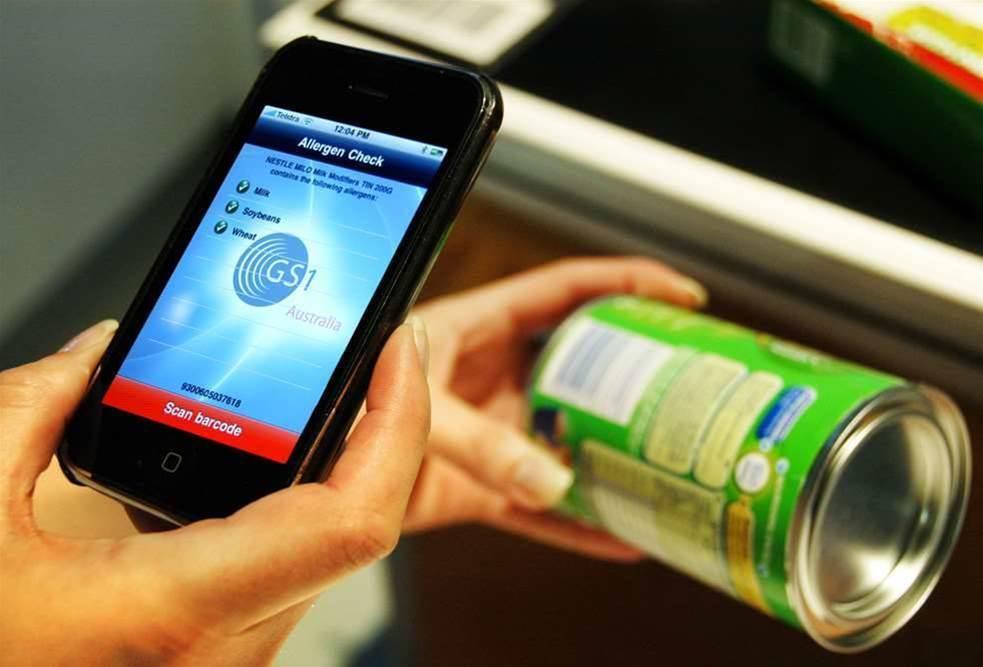 Smartphone app scans barcodes for food allergens