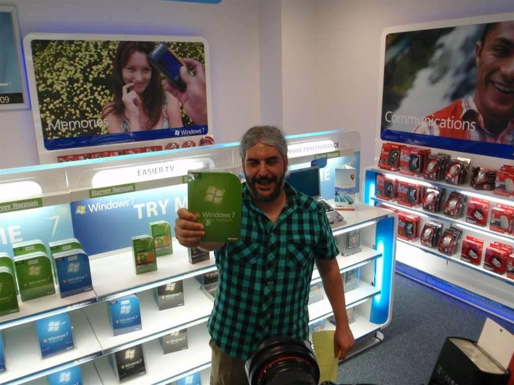 Photos: Harvey Norman customers snap up midnight Windows 7 copies