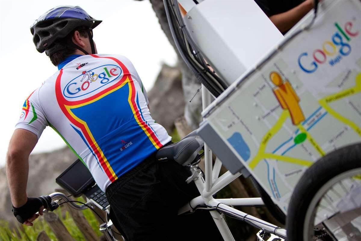 Google Street View bikes hit Australia