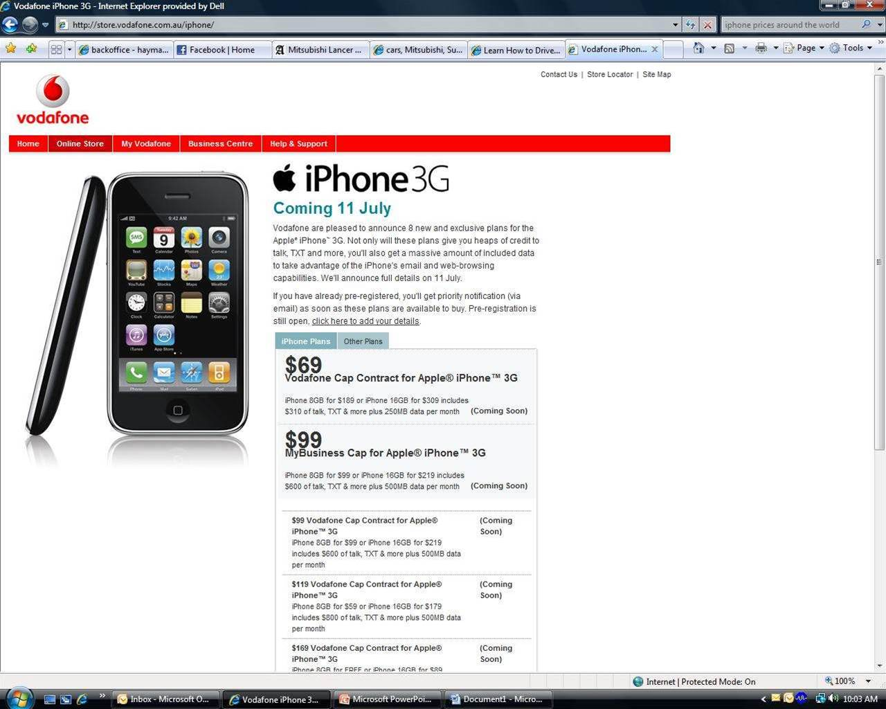 Vodafone accidentally announces iPhone plans