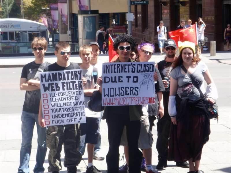 Photos: Anti internet censorship protest hits Sydney