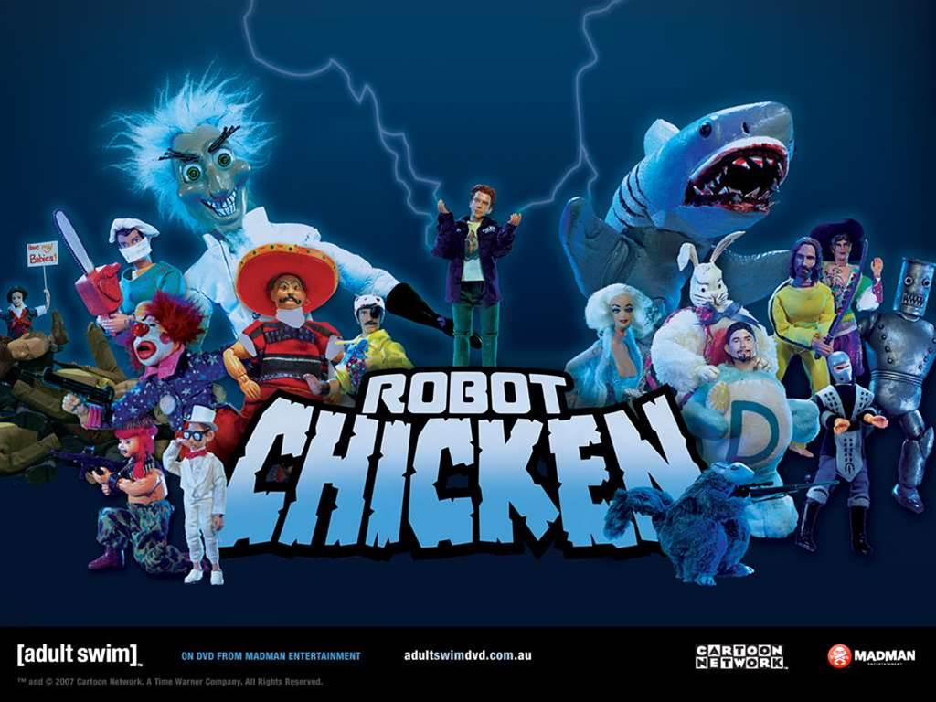 Meet the Robot Chicken gang
