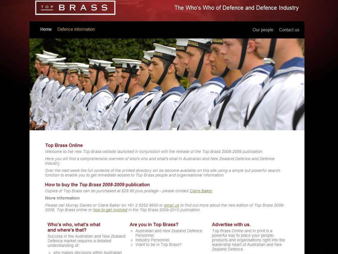 Defence Dept launches online Who's Who