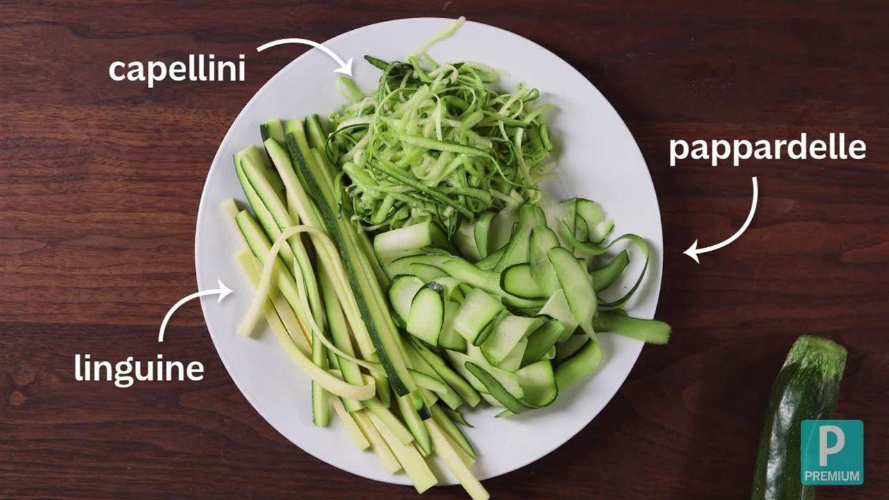 Watch: Make Your Own Zucchini Noodles with Basil-Mint Pesto