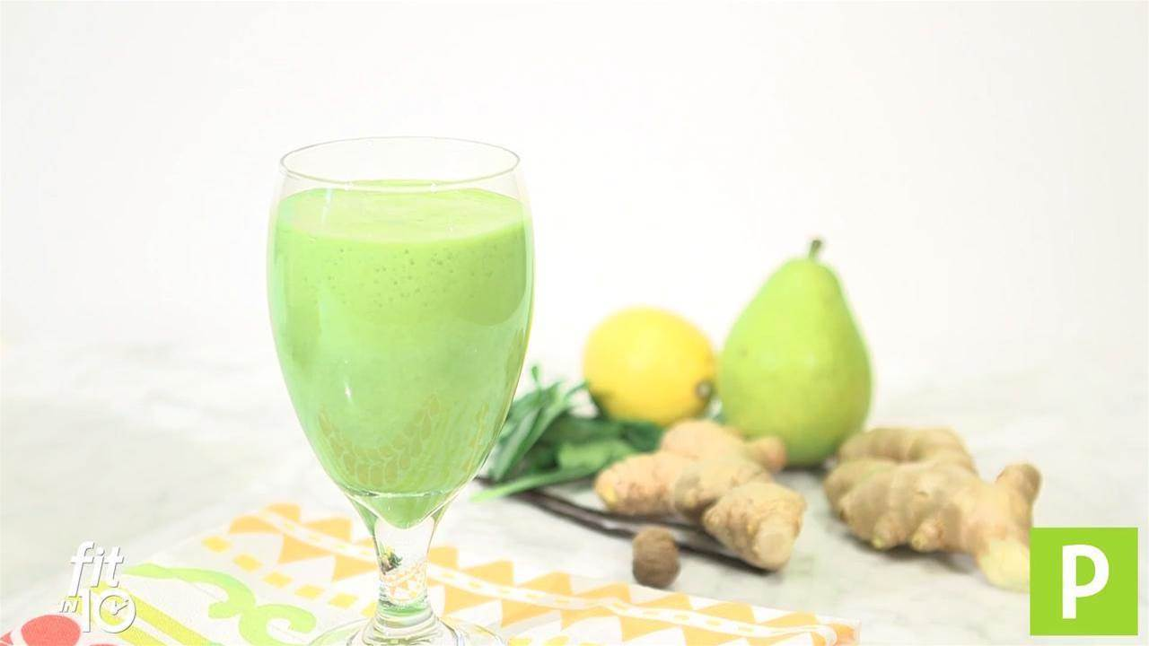 Watch: Pear Ginger Smoothie