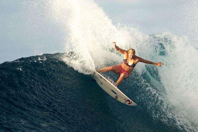 Surfing Micronesia Steph Gilmore