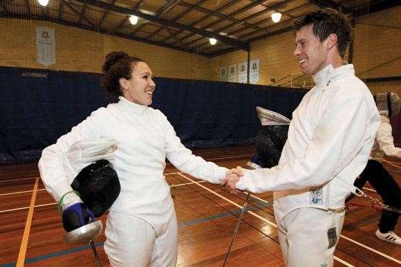Pentathlon Chloe Esposito Fencing