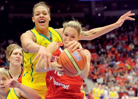 With a wingspan and height like Liz Cambage's, life just isn't fair for her opponents.
