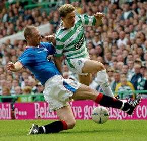 More Craig, this time at his defensive best for Rangers, vs Celtic, 2004.