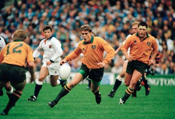 A loose ball retrieved  at Twickers in '91.