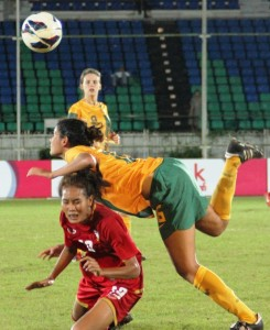 Goals from Logarzo, Harrison and Raso see the Young Matildas through