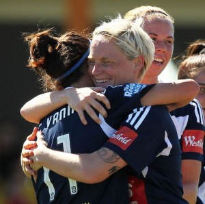 Caitlin Friend continued her early season goal scoring form with a hattrick | Credit: Getty Images