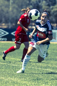 Lisa De Vanna to be a handful | Credit: Emily Mogic / TheWomensGame