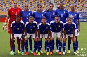 Australia held their own against an almost full strength Brazil