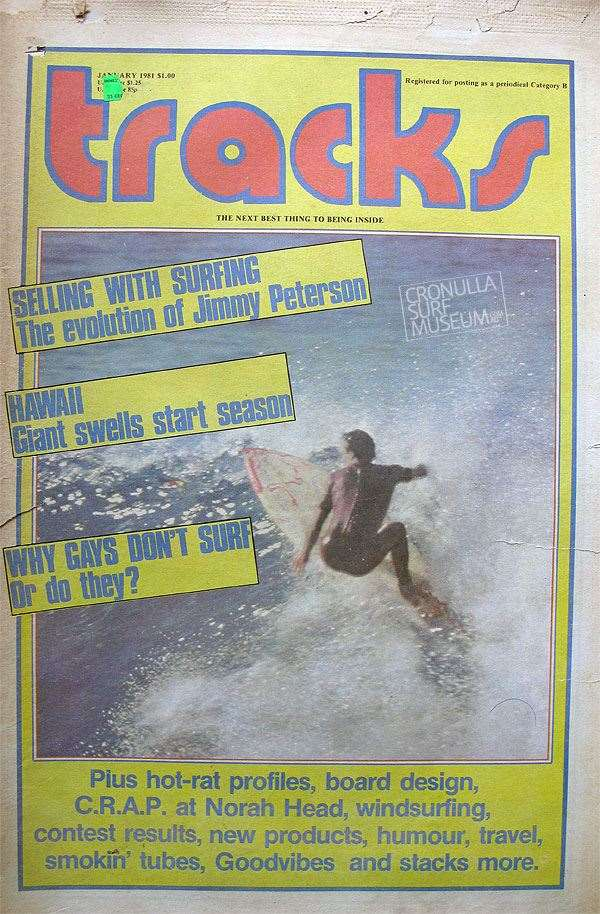 On the cover at Cronulla Point back in 1981.