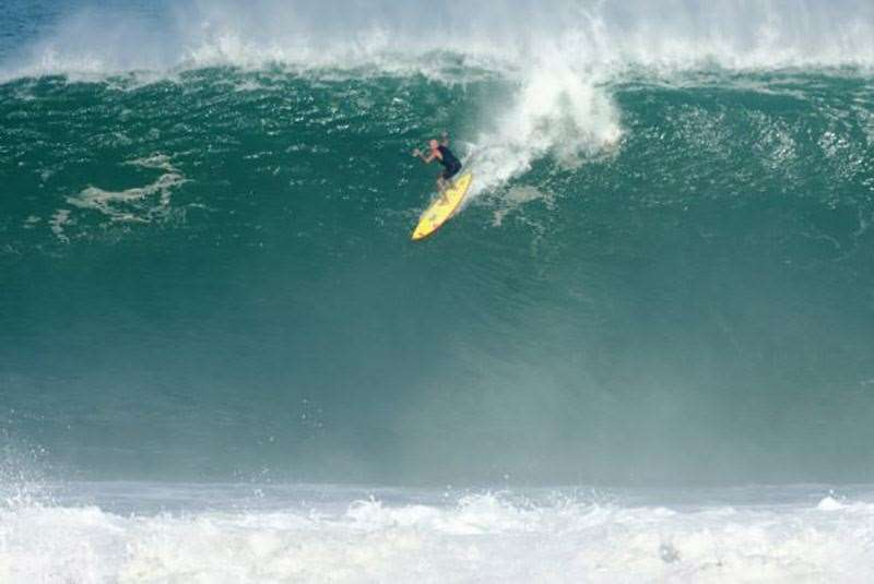 Steep and deep. Not bad for a man eyeing of his 60th birthday. Photo Daniel Flash Nava Duran