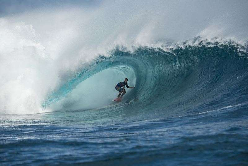 Jon Roseman at Tavarua, enjoying the fruits of ownership. Photo Joli