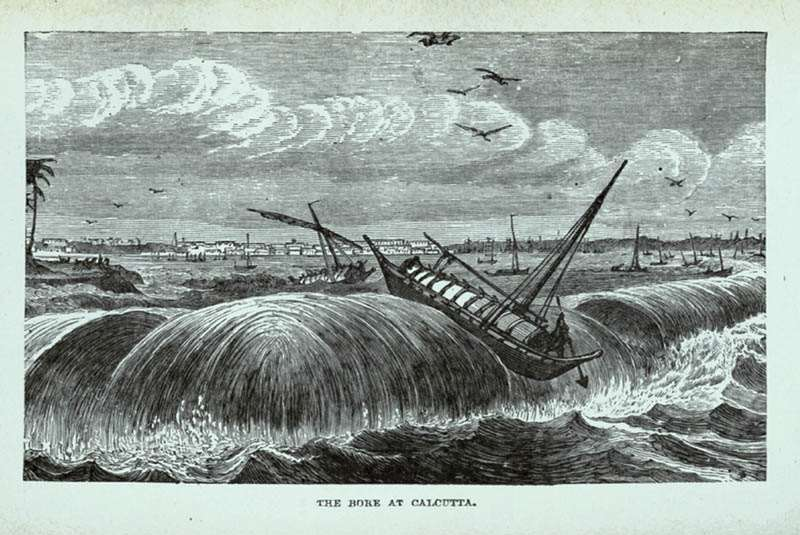 Surfing the Baan maybe new, but the bore has been around for ever. Here is a depiction from 1880.