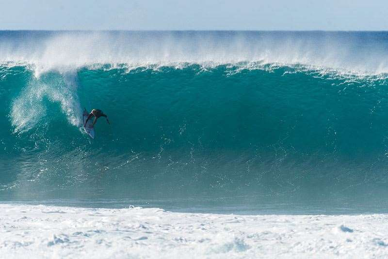 If the race went to Pipeline would you back this kid in his own backyard? Photo: Joli