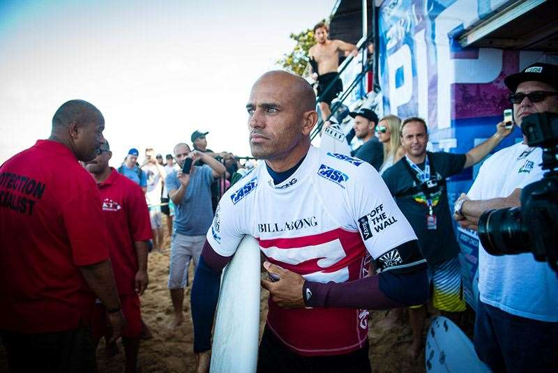 Kelly looking focused as ever for last year's Pipe Masters. Photo: Joli