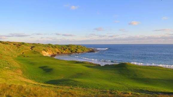 Cape Wickham's spectacular par-4 18th hole.