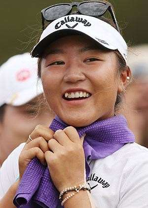 KO keeps cool and smiling during the final round. PHOTO: Getty Images
