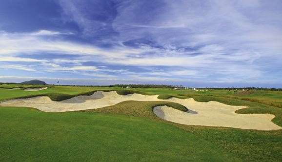 Marsh's bunkering, like this huge offering on the par-3 4th hole, is a memorable feature of the layout.