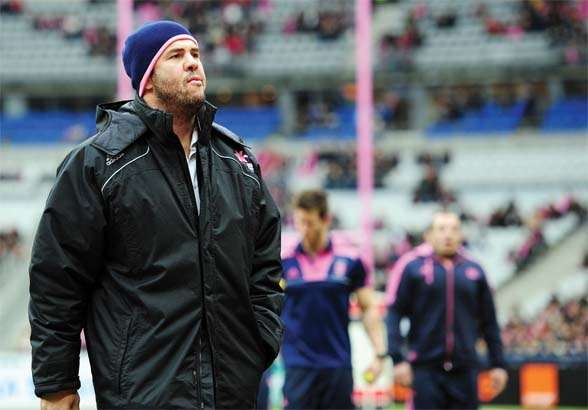 Stade Francais' Michael Cheika is pictur