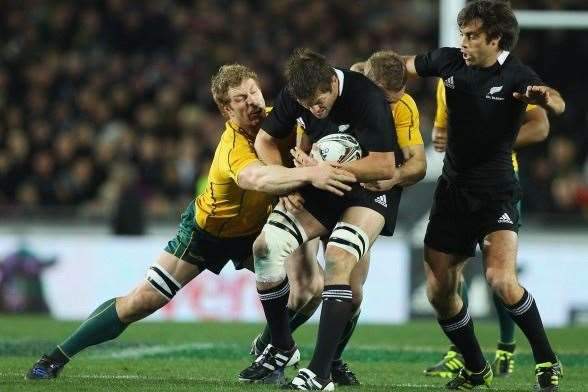 David Pocock v Richie McCaw - Battle for the Ages. (Photo by Getty Images)